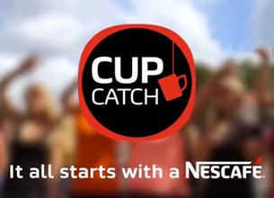 Cup Catch app van Nescafé